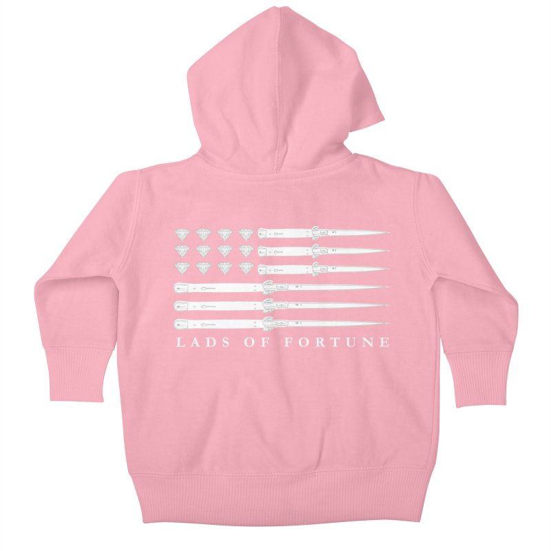 Diamond And Daggers American Flag Kids Baby Zip-Up Hoody by Lads of Fortune Artist Shop