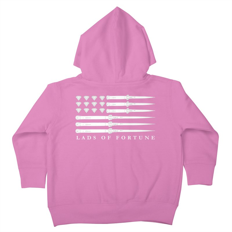 Diamond And Daggers American Flag Kids Toddler Zip-Up Hoody by Lads of Fortune Artist Shop