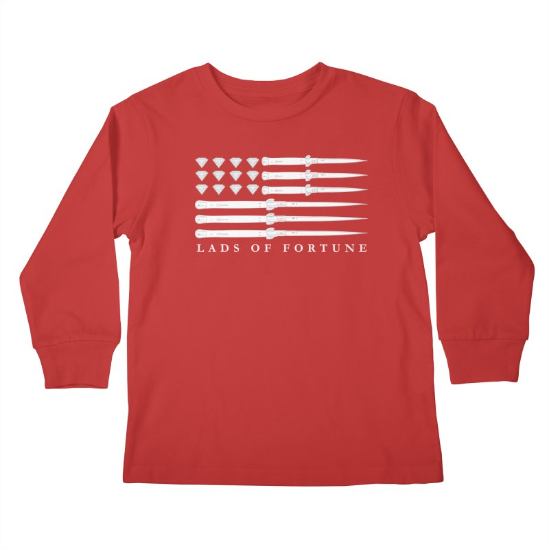 Diamond And Daggers American Flag Kids Longsleeve T-Shirt by Lads of Fortune Artist Shop