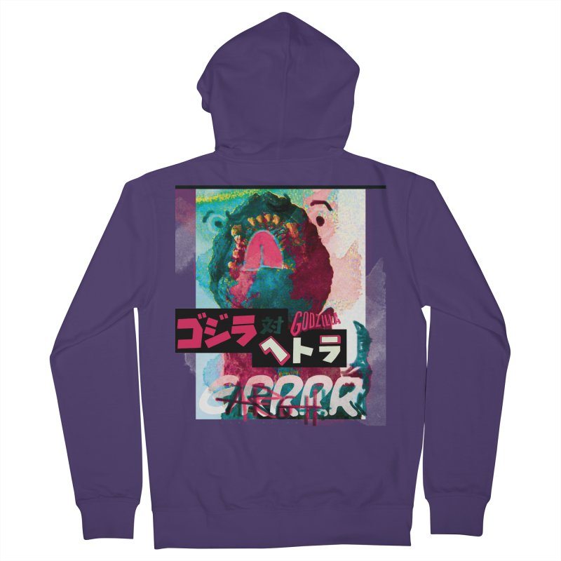 ARRRGH GODZILLA Women's French Terry Zip-Up Hoody by Lads of Fortune Artist Shop