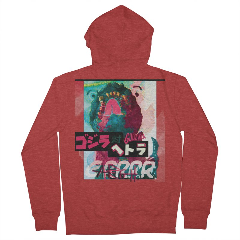 ARRRGH GODZILLA Men's French Terry Zip-Up Hoody by Lads of Fortune Artist Shop
