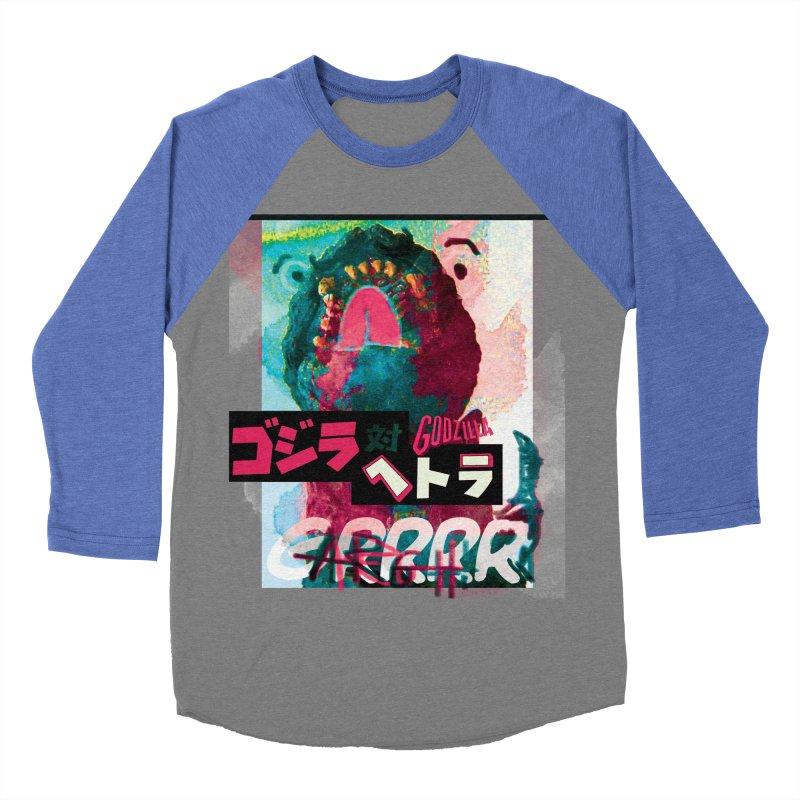 ARRRGH GODZILLA Men's Baseball Triblend Longsleeve T-Shirt by Lads of Fortune Artist Shop