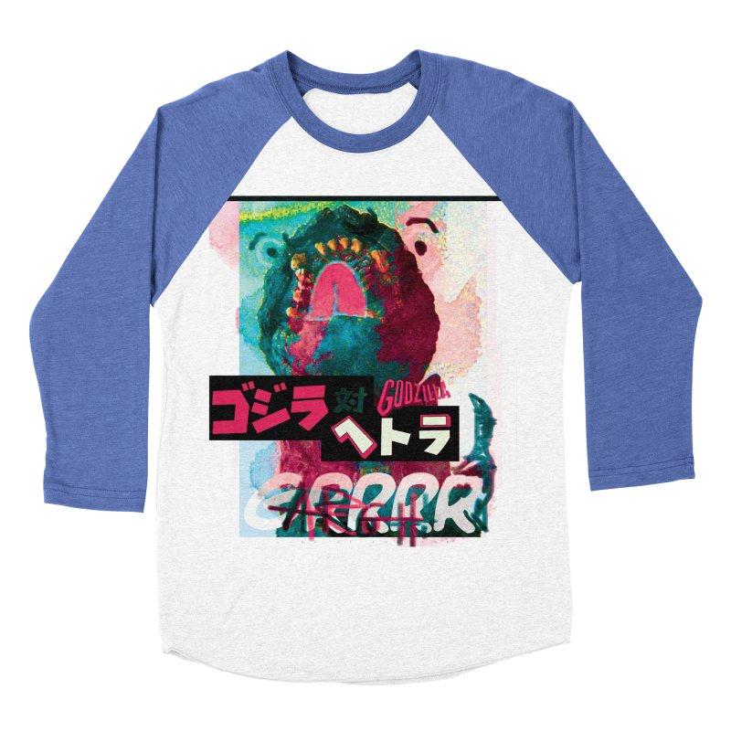 ARRRGH GODZILLA Men's Baseball Triblend T-Shirt by Lads of Fortune Artist Shop