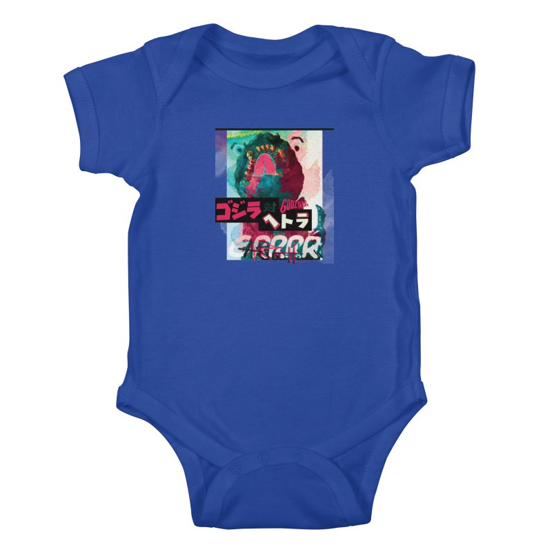 ARRRGH GODZILLA Kids Baby Bodysuit by Lads of Fortune Artist Shop
