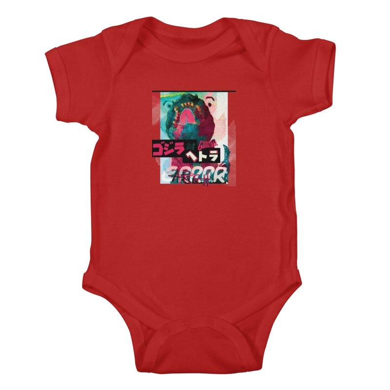 ARRRGH GODZILLA Kids Baby Bodysuit by Lads of Fortune Artist Shop