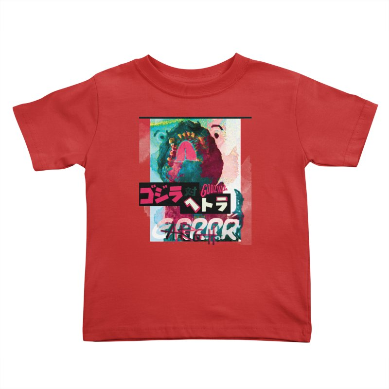 ARRRGH GODZILLA Kids Toddler T-Shirt by Lads of Fortune Artist Shop