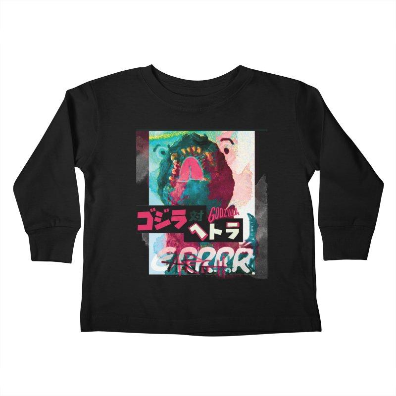 ARRRGH GODZILLA Kids Toddler Longsleeve T-Shirt by Lads of Fortune Artist Shop