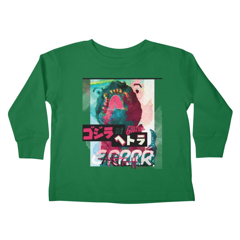 ARRRGH GODZILLA Kids Toddler Longsleeve T-Shirt by Lads of Fortune Artist Shop