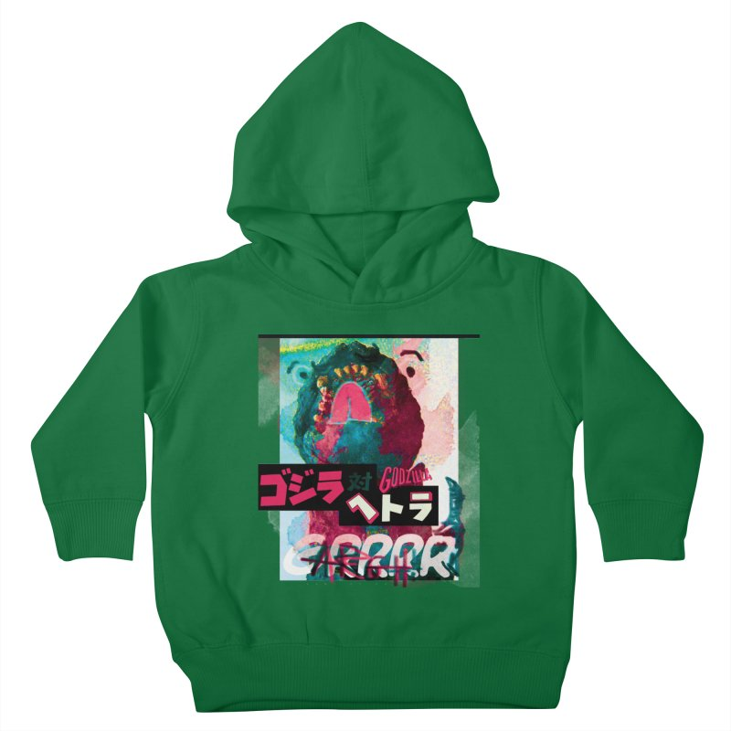 ARRRGH GODZILLA Kids Toddler Pullover Hoody by Lads of Fortune Artist Shop