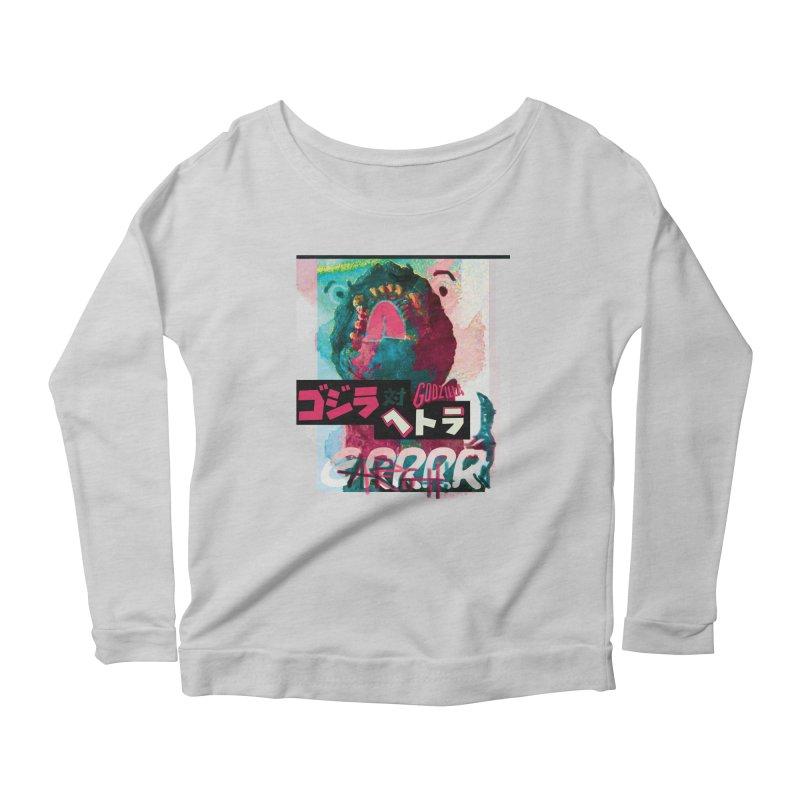 ARRRGH GODZILLA Women's Scoop Neck Longsleeve T-Shirt by Lads of Fortune Artist Shop
