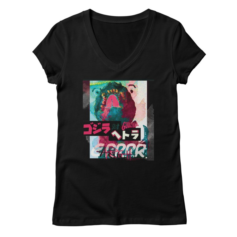 ARRRGH GODZILLA Women's Regular V-Neck by Lads of Fortune Artist Shop
