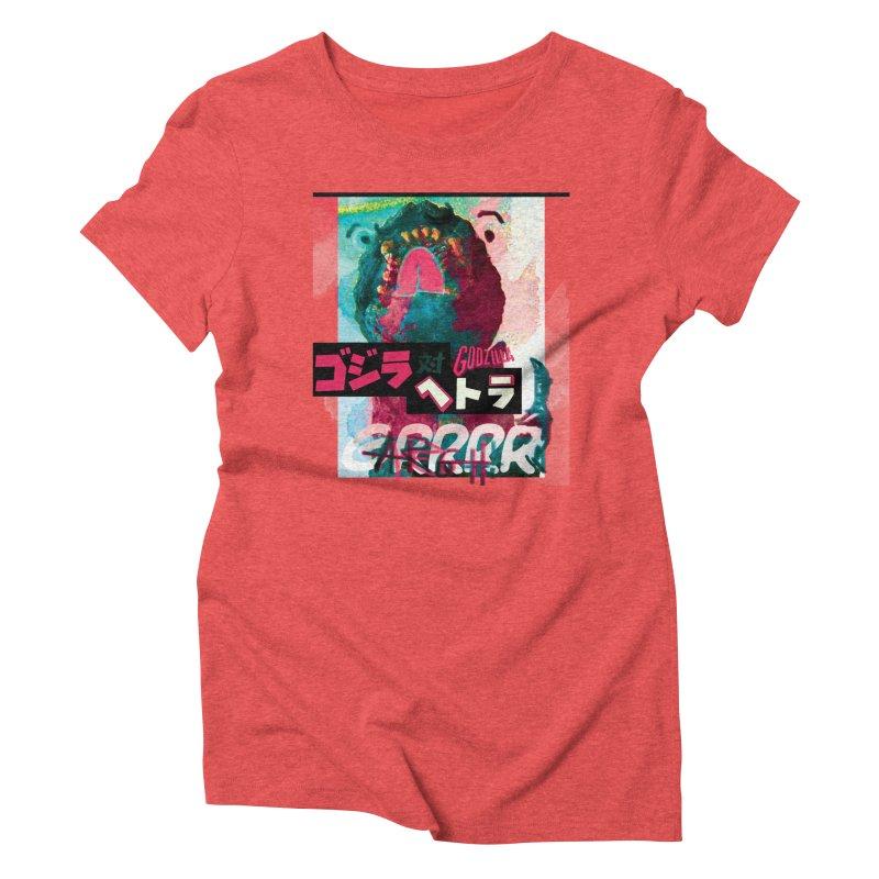 ARRRGH GODZILLA Women's Triblend T-Shirt by Lads of Fortune Artist Shop