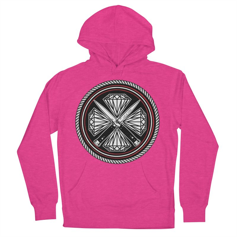 Diamonds and Daggers LOF logo Women's French Terry Pullover Hoody by Lads of Fortune Artist Shop