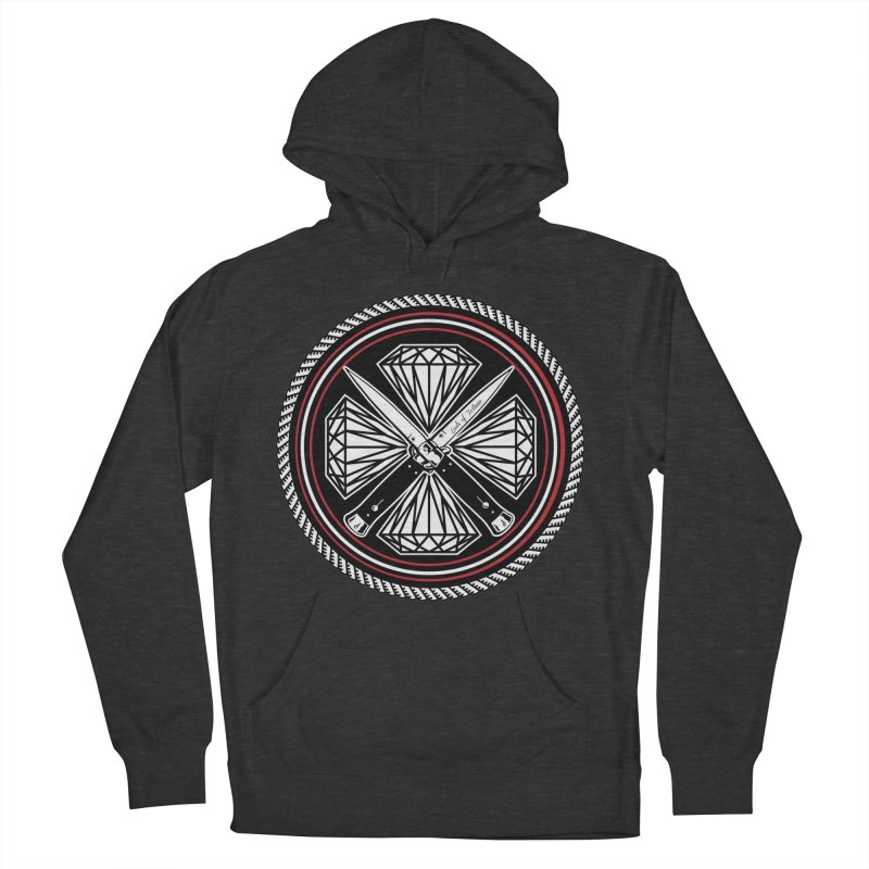 Diamonds and Daggers LOF logo Men's French Terry Pullover Hoody by Lads of Fortune Artist Shop