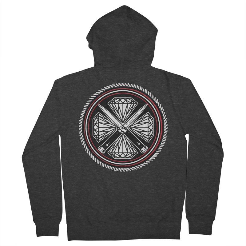 Diamonds and Daggers LOF logo Women's French Terry Zip-Up Hoody by Lads of Fortune Artist Shop