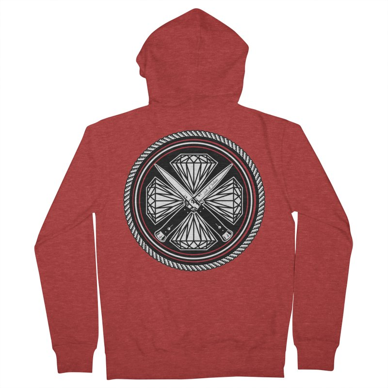 Diamonds and Daggers LOF logo Women's Zip-Up Hoody by Lads of Fortune Artist Shop