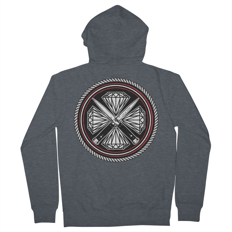Diamonds and Daggers LOF logo Men's Zip-Up Hoody by Lads of Fortune Artist Shop