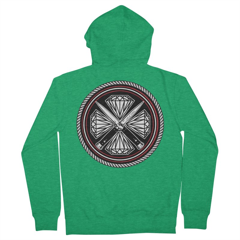 Diamonds and Daggers LOF logo Men's French Terry Zip-Up Hoody by Lads of Fortune Artist Shop