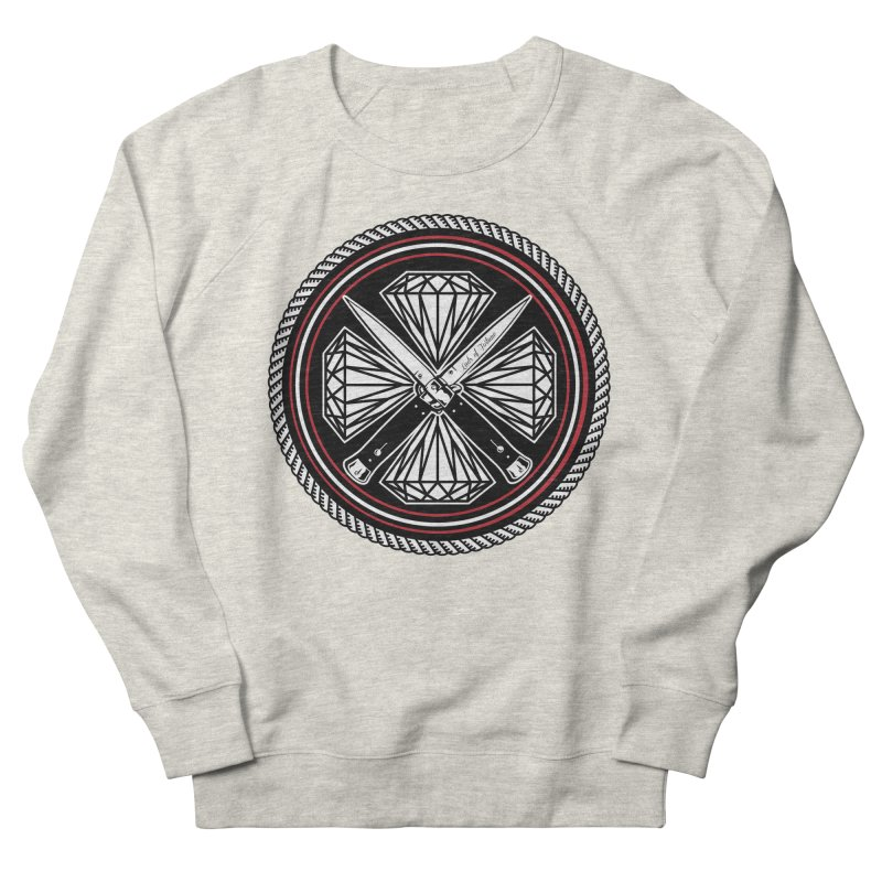 Diamonds and Daggers LOF logo Men's French Terry Sweatshirt by Lads of Fortune Artist Shop
