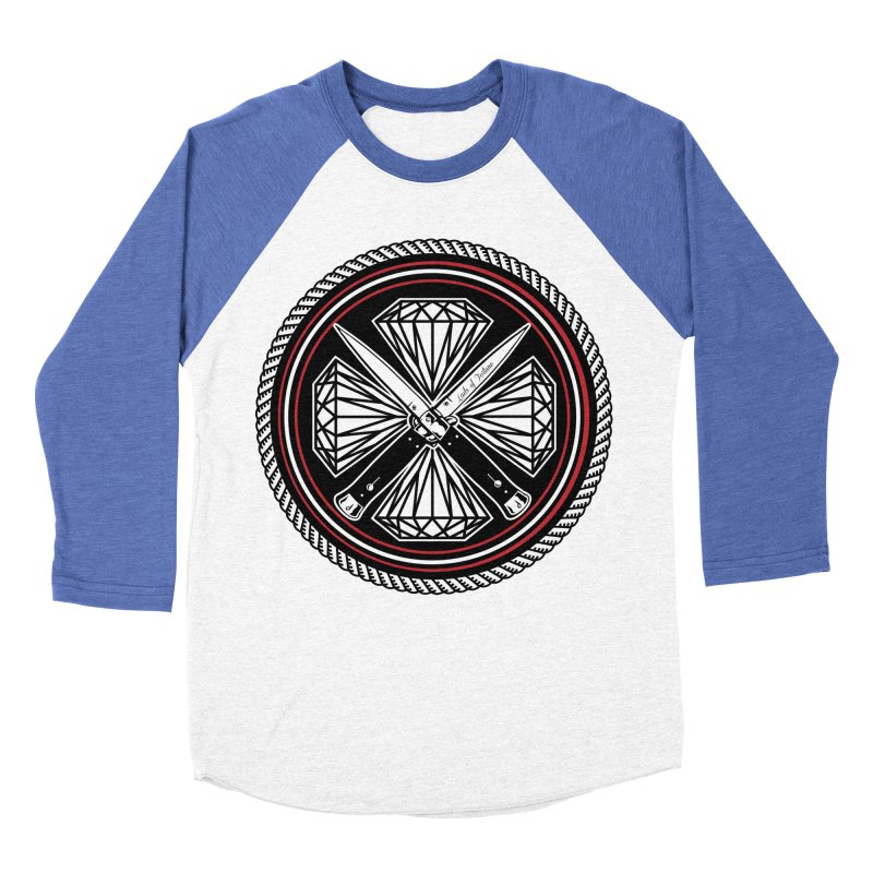 Diamonds and Daggers LOF logo Women's Baseball Triblend Longsleeve T-Shirt by Lads of Fortune Artist Shop