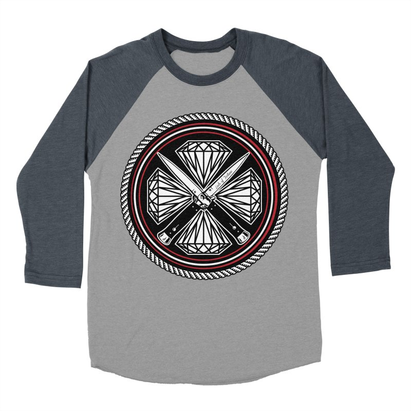 Diamonds and Daggers LOF logo Women's Baseball Triblend T-Shirt by Lads of Fortune Artist Shop