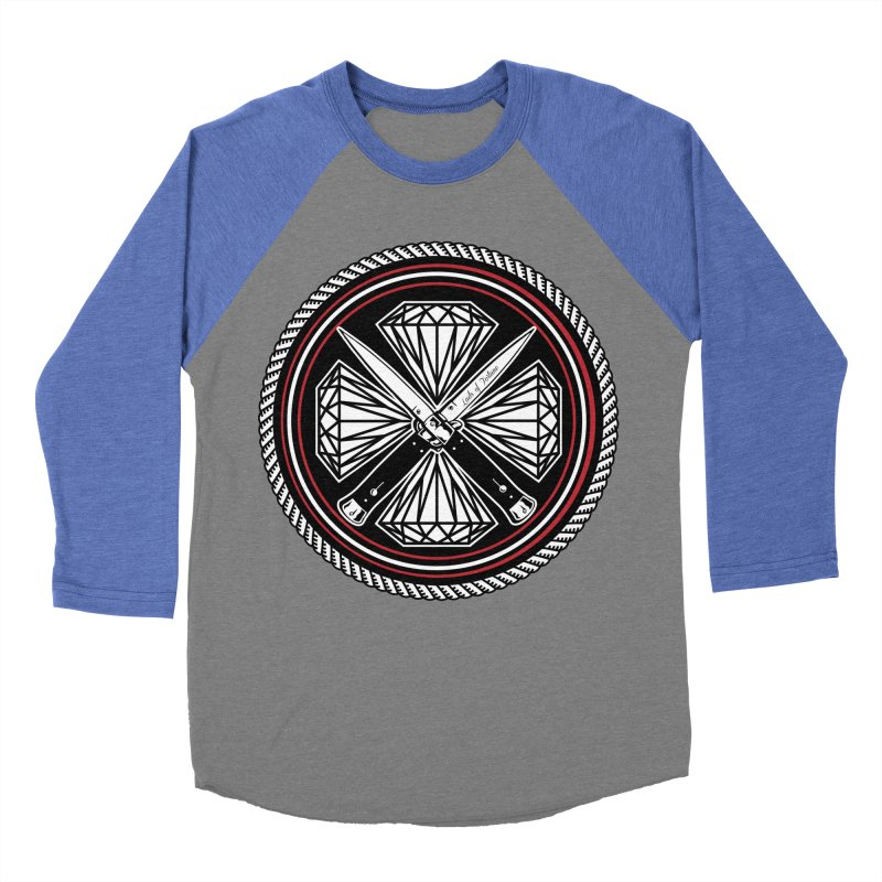 Diamonds and Daggers LOF logo Men's Baseball Triblend T-Shirt by Lads of Fortune Artist Shop