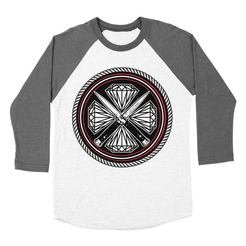 Diamonds and Daggers LOF logo Men's Baseball Triblend Longsleeve T-Shirt by Lads of Fortune Artist Shop