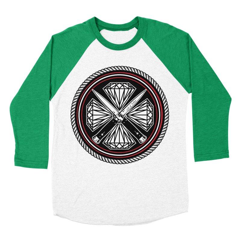 Diamonds and Daggers LOF logo Men's Baseball Triblend T-Shirt by Lads of Fortune Artist Shop