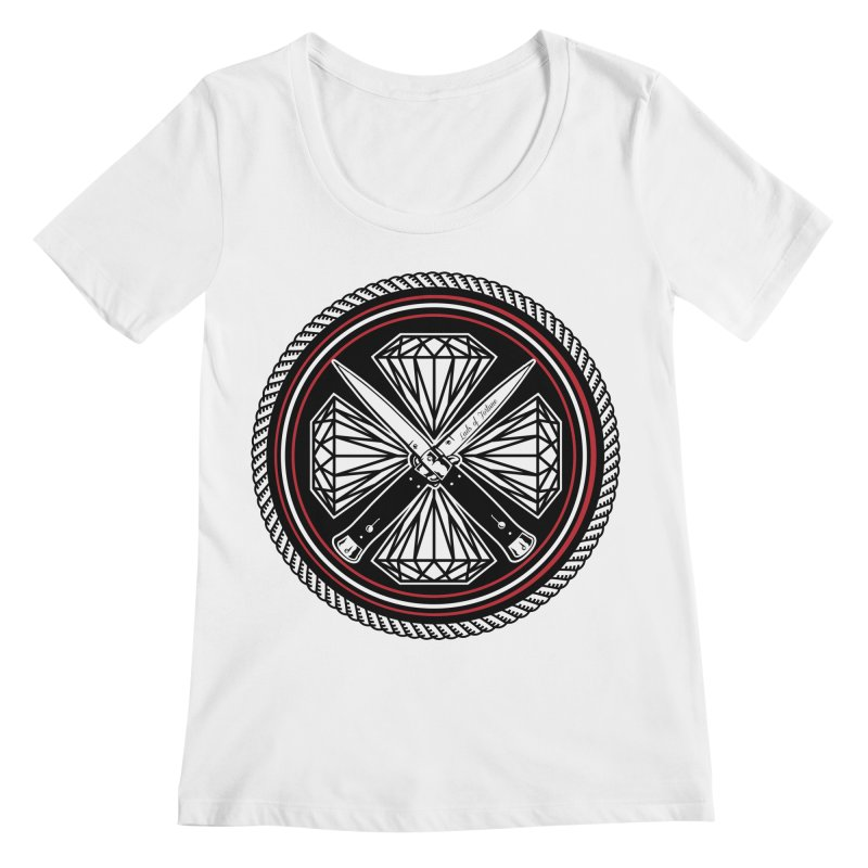 Diamonds and Daggers LOF logo Women's Scoopneck by Lads of Fortune Artist Shop