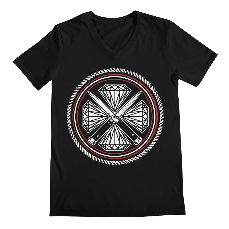 Diamonds and Daggers LOF logo Men's V-Neck by Lads of Fortune Artist Shop
