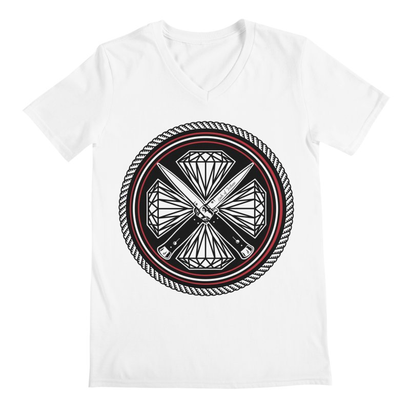 Diamonds and Daggers LOF logo Men's Regular V-Neck by Lads of Fortune Artist Shop