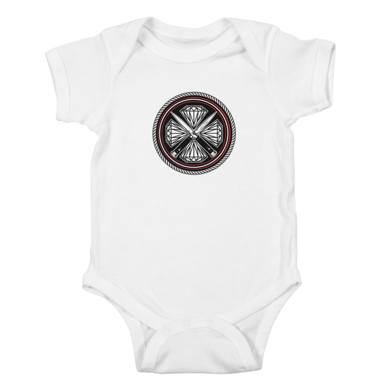 Diamonds and Daggers LOF logo Kids Baby Bodysuit by Lads of Fortune Artist Shop
