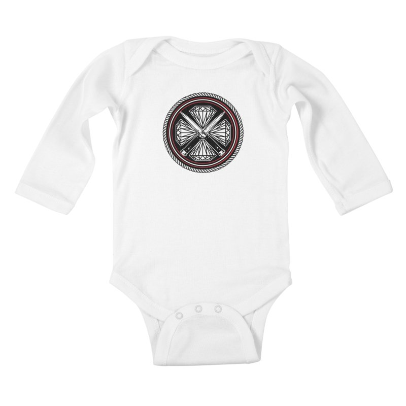 Diamonds and Daggers LOF logo Kids Baby Longsleeve Bodysuit by Lads of Fortune Artist Shop