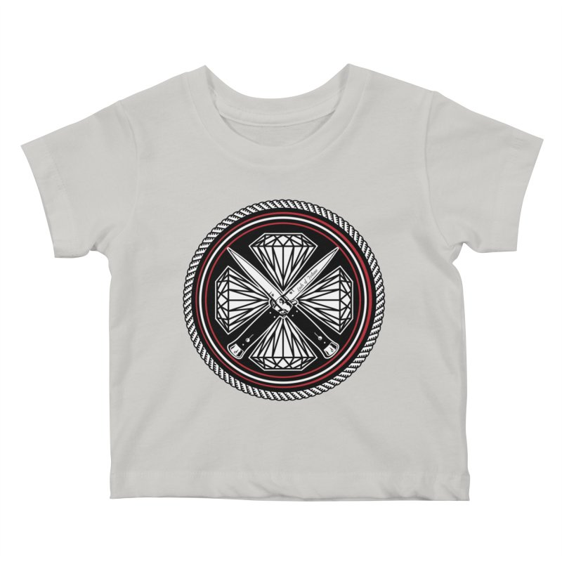Diamonds and Daggers LOF logo Kids Baby T-Shirt by Lads of Fortune Artist Shop