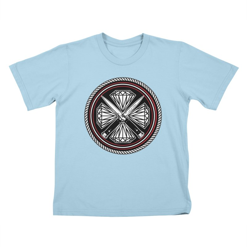 Diamonds and Daggers LOF logo Kids T-Shirt by Lads of Fortune Artist Shop