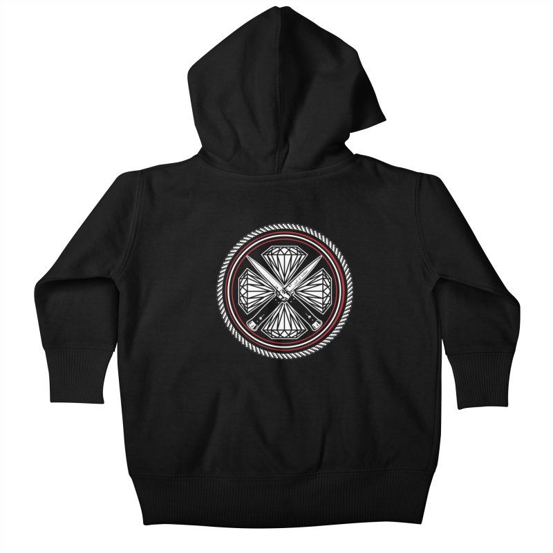Diamonds and Daggers LOF logo Kids Baby Zip-Up Hoody by Lads of Fortune Artist Shop