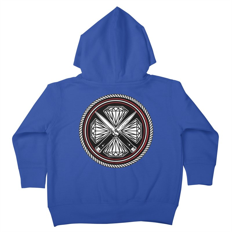 Diamonds and Daggers LOF logo Kids Toddler Zip-Up Hoody by Lads of Fortune Artist Shop