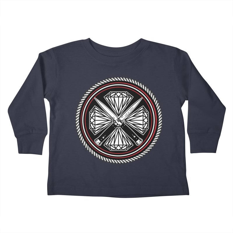 Diamonds and Daggers LOF logo Kids Toddler Longsleeve T-Shirt by Lads of Fortune Artist Shop