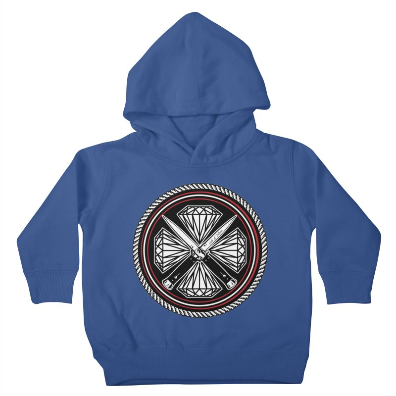 Diamonds and Daggers LOF logo Kids Toddler Pullover Hoody by Lads of Fortune Artist Shop