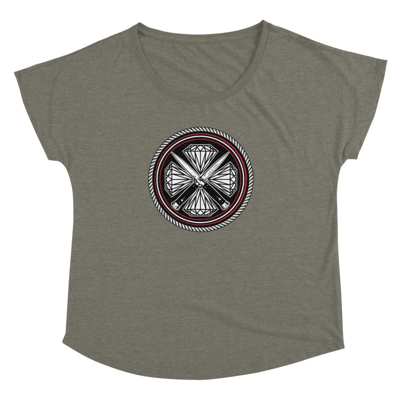 Diamonds and Daggers LOF logo Women's Dolman Scoop Neck by Lads of Fortune Artist Shop