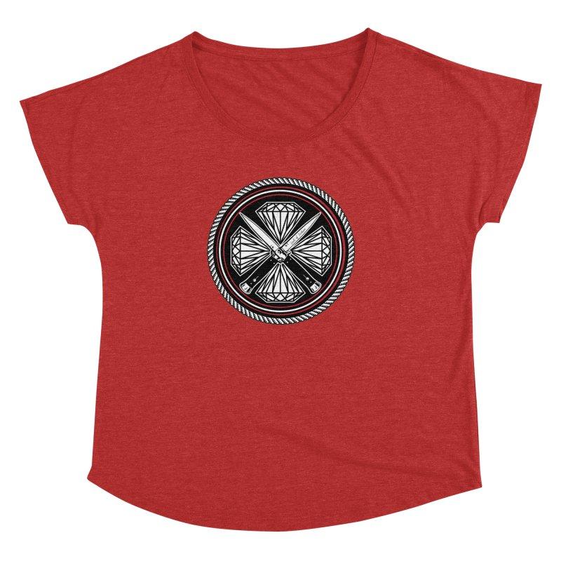 Diamonds and Daggers LOF logo Women's Dolman by Lads of Fortune Artist Shop