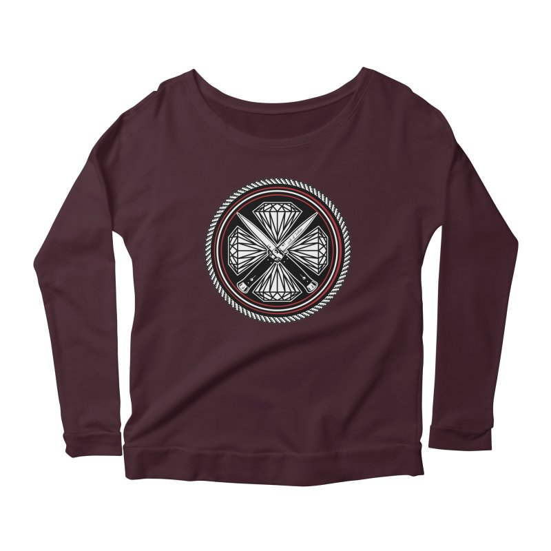 Diamonds and Daggers LOF logo Women's Scoop Neck Longsleeve T-Shirt by Lads of Fortune Artist Shop