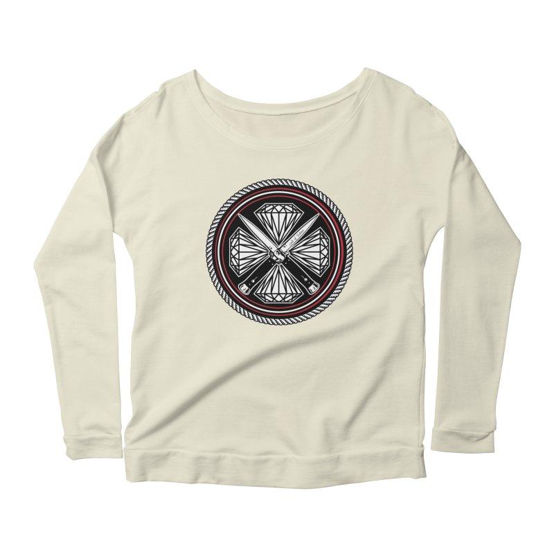 Diamonds and Daggers LOF logo Women's Longsleeve Scoopneck  by Lads of Fortune Artist Shop