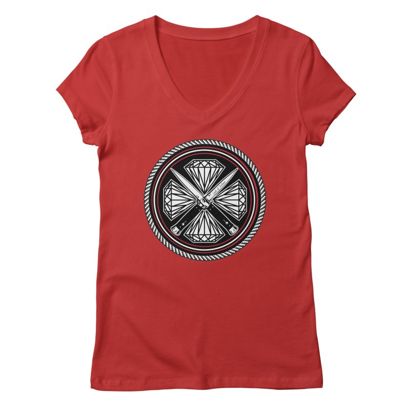 Diamonds and Daggers LOF logo Women's Regular V-Neck by Lads of Fortune Artist Shop