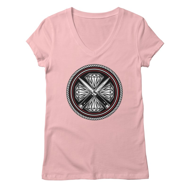 Diamonds and Daggers LOF logo Women's V-Neck by Lads of Fortune Artist Shop