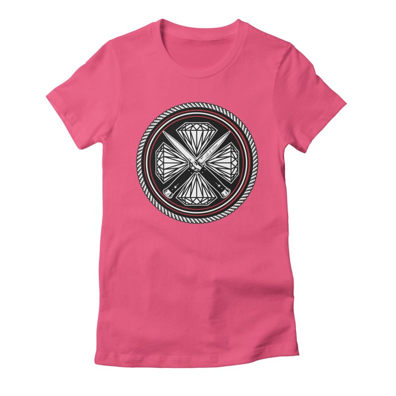 Diamonds and Daggers LOF logo Women's Fitted T-Shirt by Lads of Fortune Artist Shop