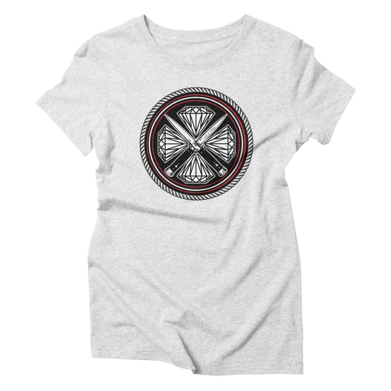 Diamonds and Daggers LOF logo Women's Triblend T-Shirt by Lads of Fortune Artist Shop
