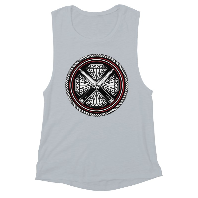 Diamonds and Daggers LOF logo Women's Muscle Tank by Lads of Fortune Artist Shop