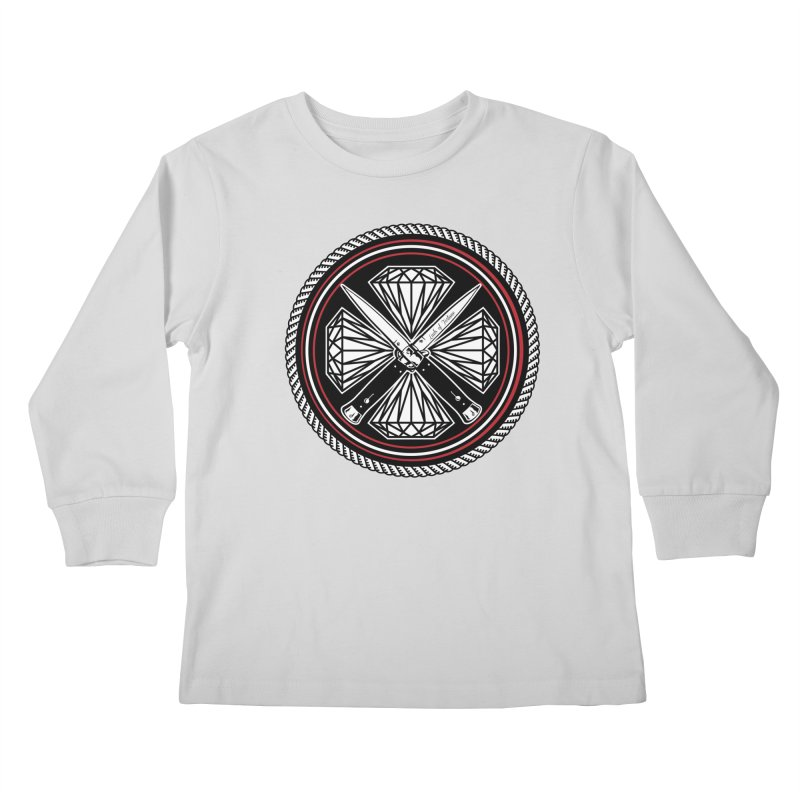 Diamonds and Daggers LOF logo Kids Longsleeve T-Shirt by Lads of Fortune Artist Shop