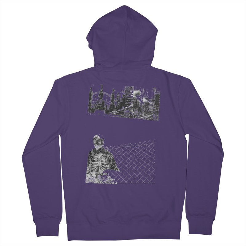 History is never black and white Women's French Terry Zip-Up Hoody by Lads of Fortune Artist Shop